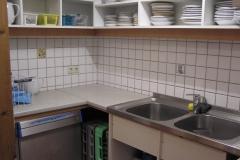 Küche mit Gastrogeschirrspüler