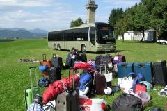Anreise mit Bus zum Ferienlager Plattenberg
