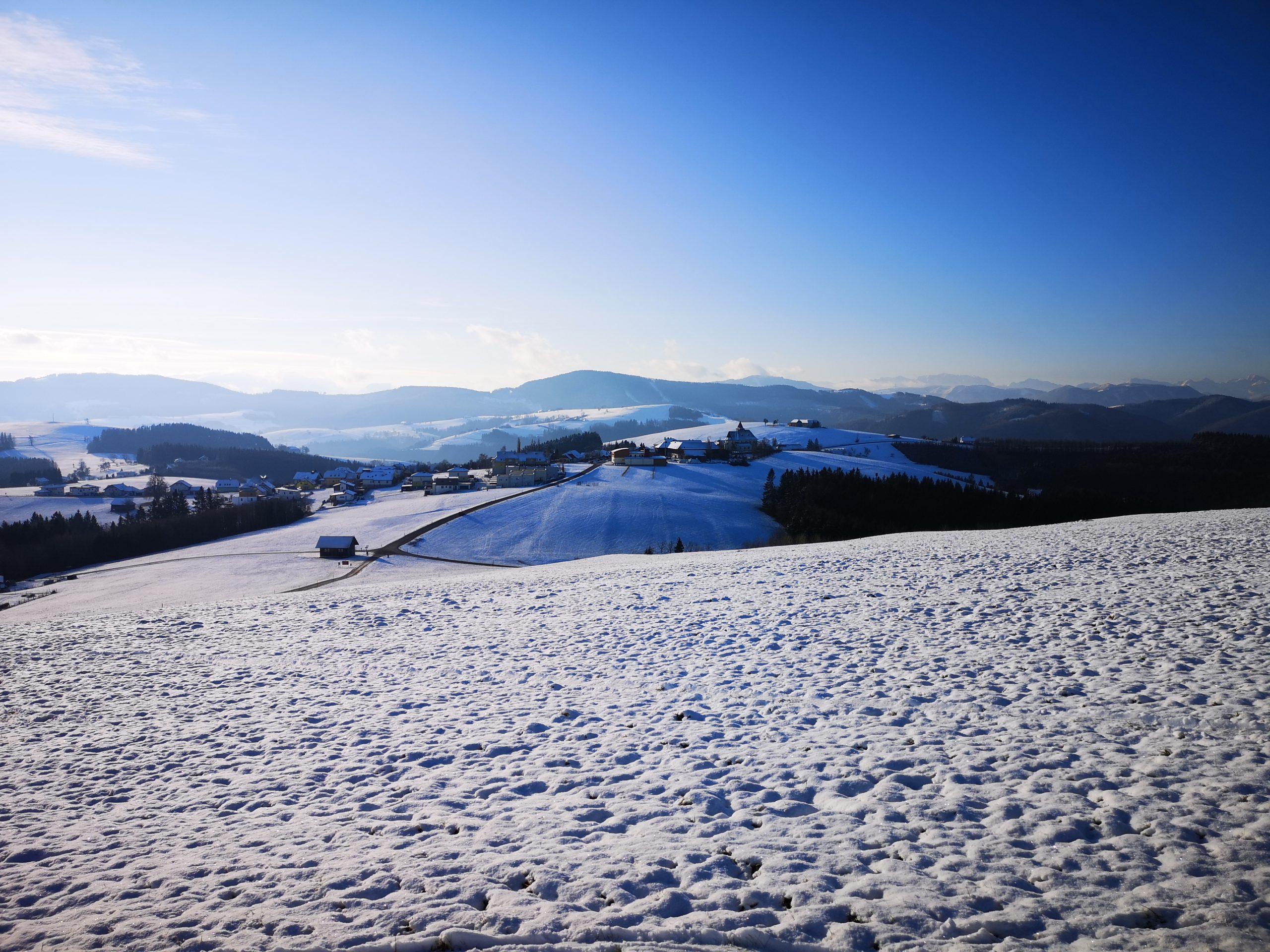 Winterwonderland Blick auf Kürnberg